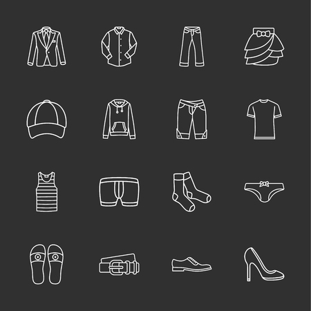 sixteen modern clothes icons