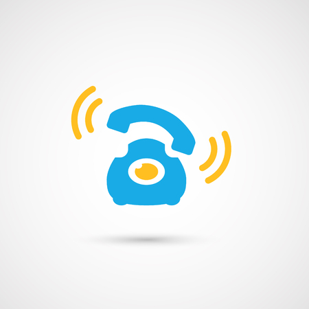 Phone colorful icon - Call, vector illustration. Illustration