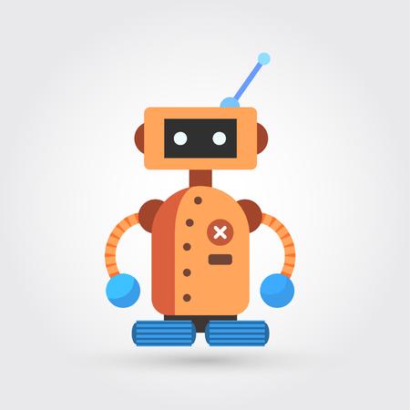 Ute vintage robot 向量圖像