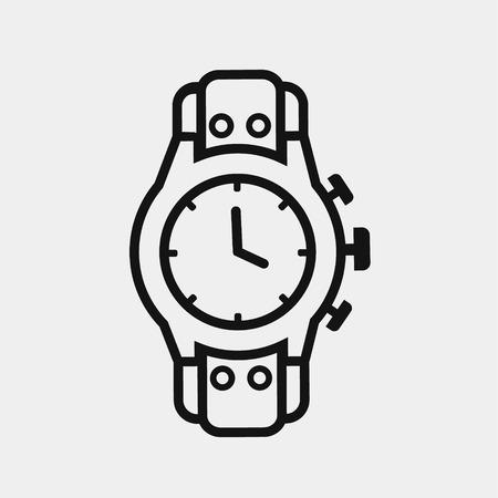 男性の時計アイコンです。高価な贈り物。