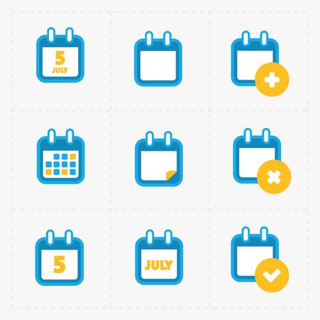 Vector Calendar Icons on white