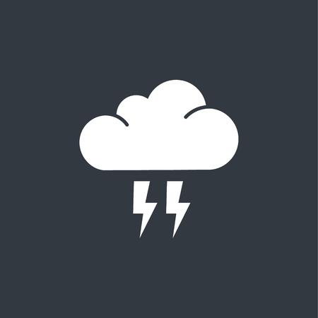 Nube plana icono de flash Vectores