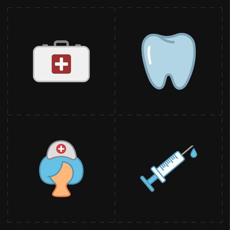 flat medicine icons Illustration