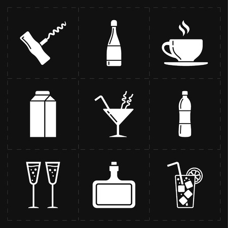 bottle screw: modern bar icons Illustration