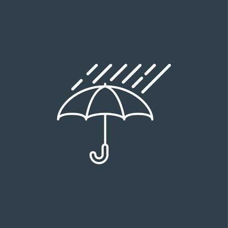 Umbrella with rain Illustration
