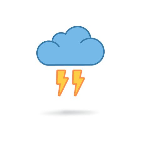 drench: Nube plana icono de flash Vectores