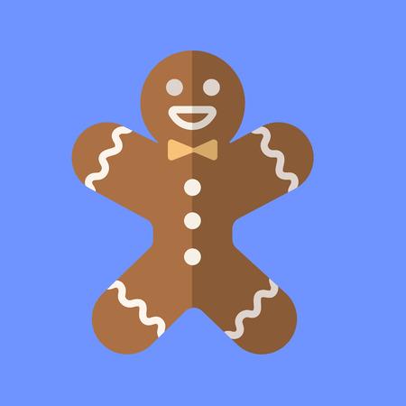 Gingerbread man icon. Vector illustration. Illustration