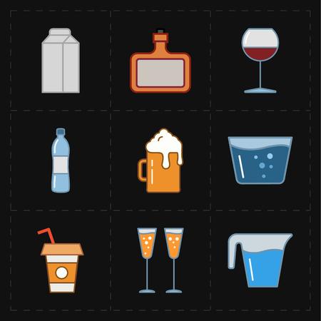 tumbler: modern bar icons Illustration