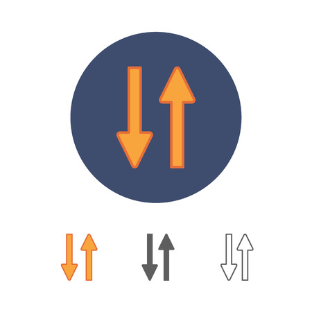 New universal arrow vector illustration.