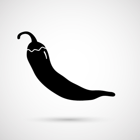 Chili peper. Vector illustratie Stockfoto - 80396244