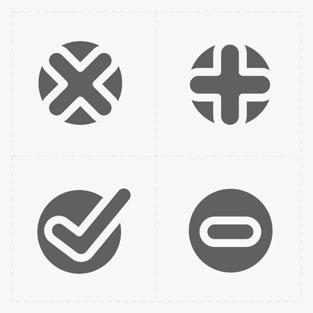 confirm: Vector black confirm icons set