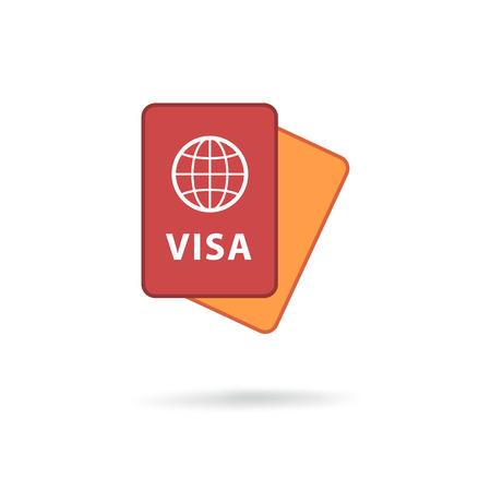 emigration: Passport modern icon