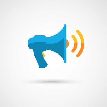 loud speaker: Modern flat megaphone icon.