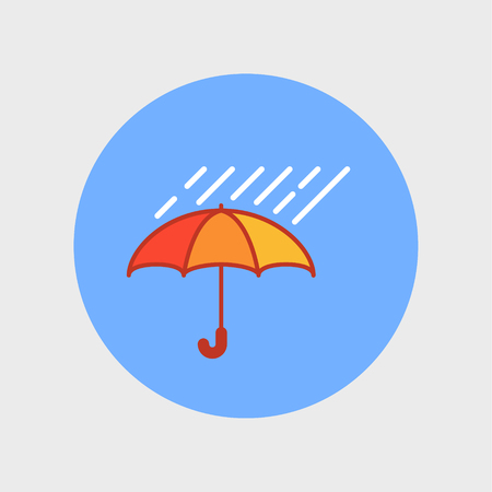 Umbrella with rain Illustration