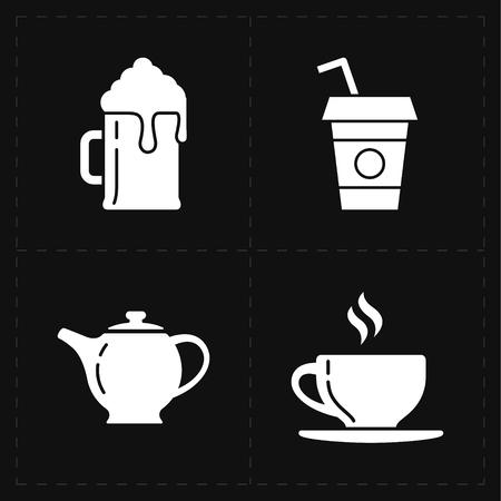 draughts: modern bar icons Illustration