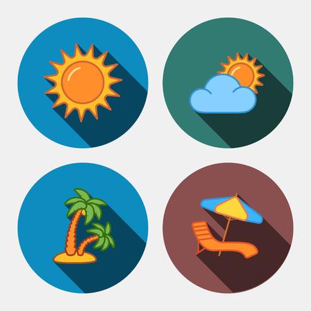 tree isolated: travel company icons