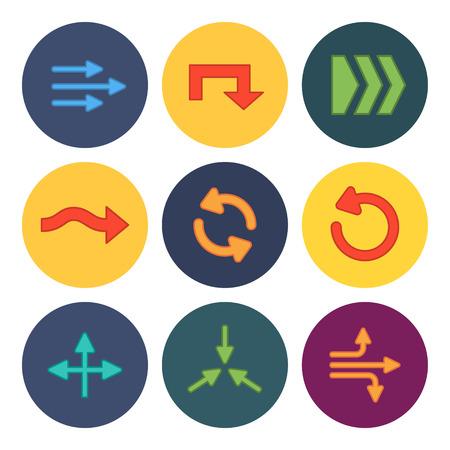 back link: 9 flat modern arrows