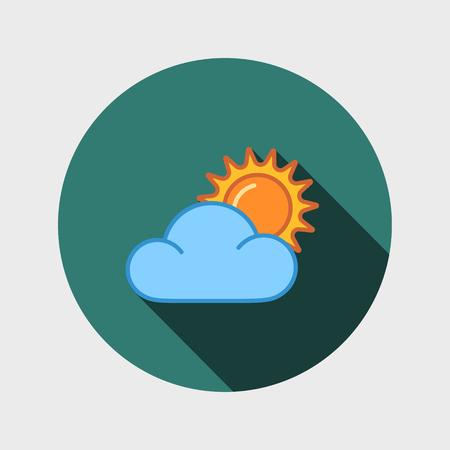 symbolics: sun and cloud icon