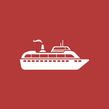 Ship modern icon Illustration