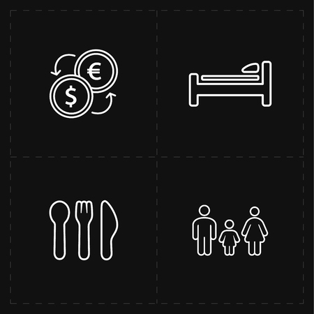 breakfast in bed: travel company icons