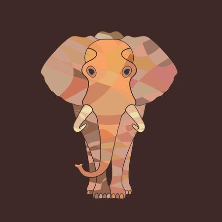 Vector elephant Ilustrace