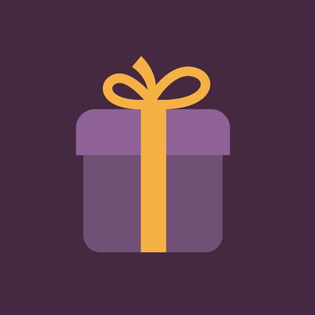 pictograph: gift box icon with bow.
