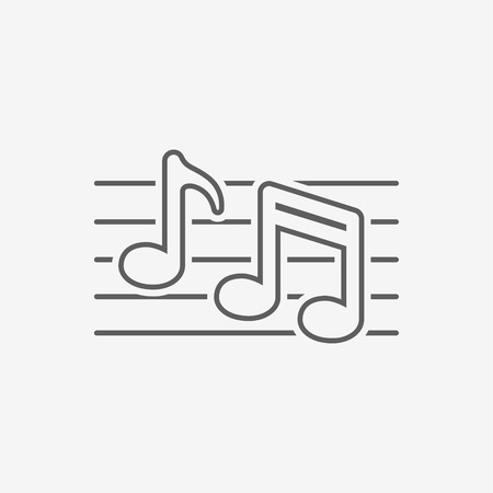 crotchets: Music note icon