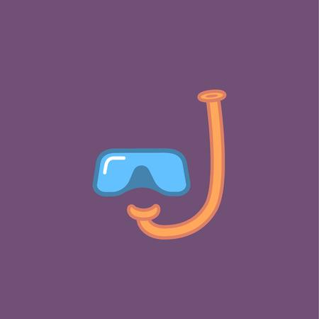 Diving mask icon Illustration
