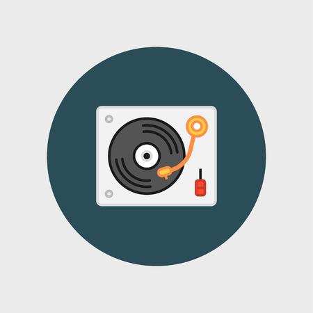 birthday party: Disk Jockey turntable icon Illustration