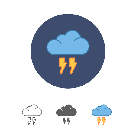 drench: flat cloud flash icon