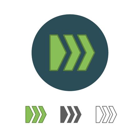 flat arrow icon