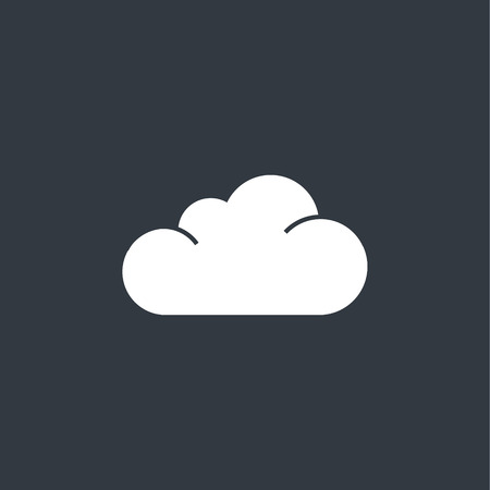mostly: cloud icon. Flat design style