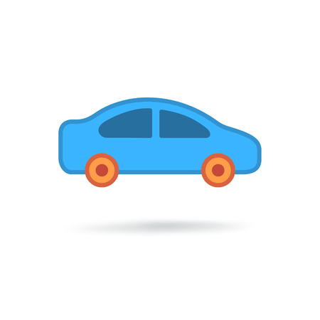 sedan: Car modern icon Illustration