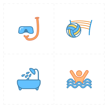 Reis pictogrammen Stock Illustratie