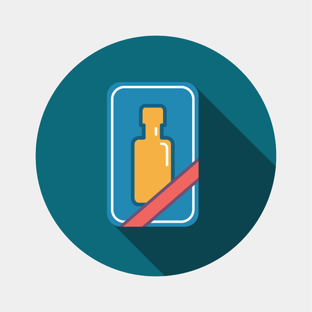 Gift bottle icon.