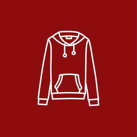 hooded: Hooded sweater Illustration