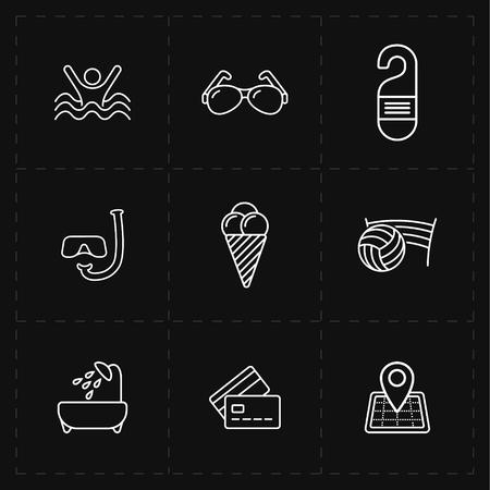 dive trip: Free travel icons set.