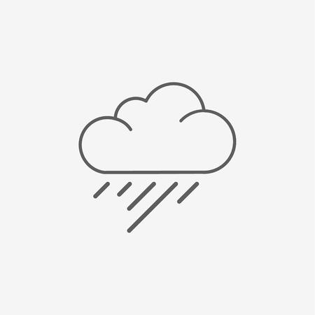 drench: Rain Cloud cartoon illustration vector. Vectores