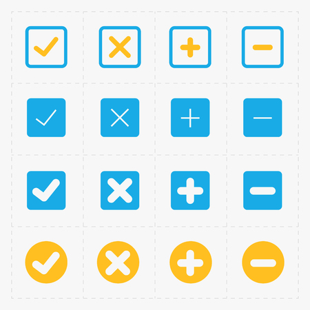 confirm: A vector colorful confirm symbol icons set. Illustration