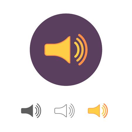 Speaker Volume max icon set.