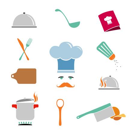 Kitchen Icons Set Illustration