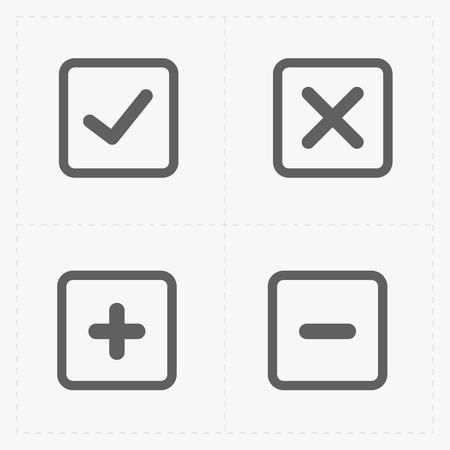 A vector of black confirm icons set.
