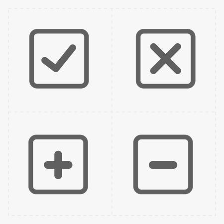 confirm: A vector of black confirm icons set.