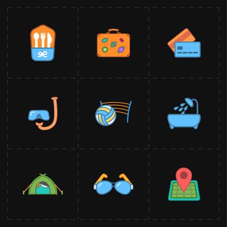 free travel icons 向量圖像