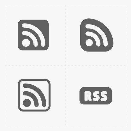 RSS feed symbols on White Background. 向量圖像