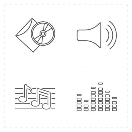 Universal music icons 向量圖像