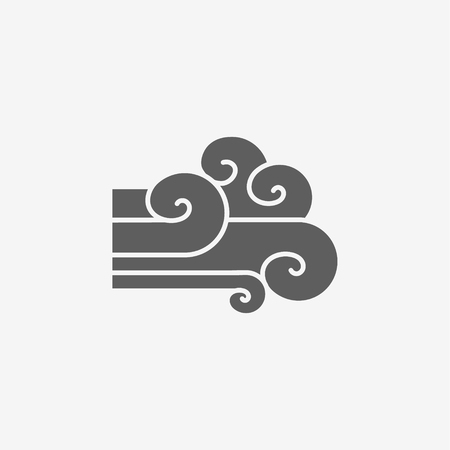 Wind sign icon