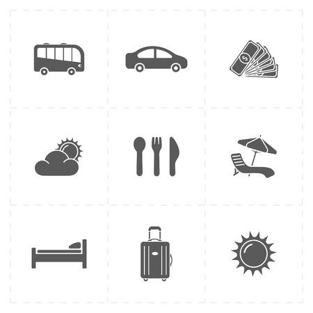 Reis bedrijf iconen