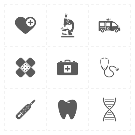 Geneeskunde moderne pictogrammen Stock Illustratie