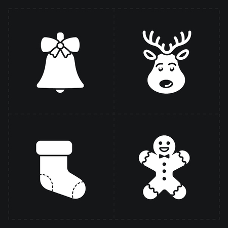 Christmas silhouette icons collection